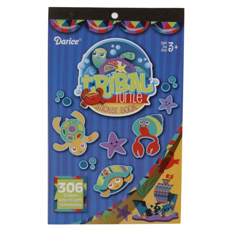 Sticker Book Tribal Turtle 306Pc