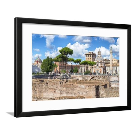 Dolce Vita Rome Collection - Roman Archaeology Columns Framed Print Wall Art By Philippe Hugonnard - Plastic Roman Columns For Sale