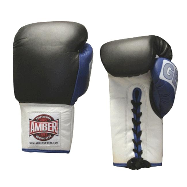 Amber Fight Gear Gel Training Gloves Laceup 18oz