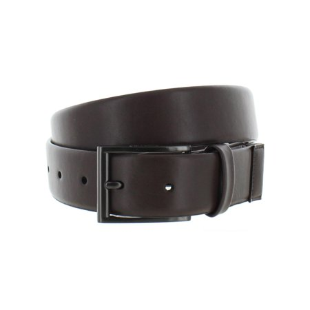 Kenneth Cole Reaction Mens Faux Leather Buckle Dress Belt Brown S