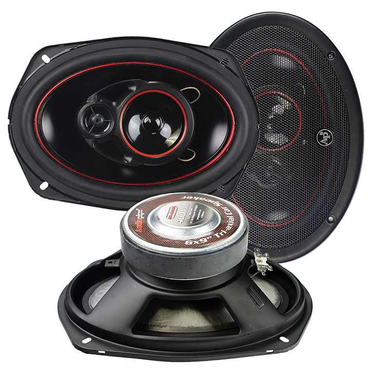"AUDIOPIPE Redline Speaker 6X9"" 3-WAY (pair) 400 WATT PP CONE"