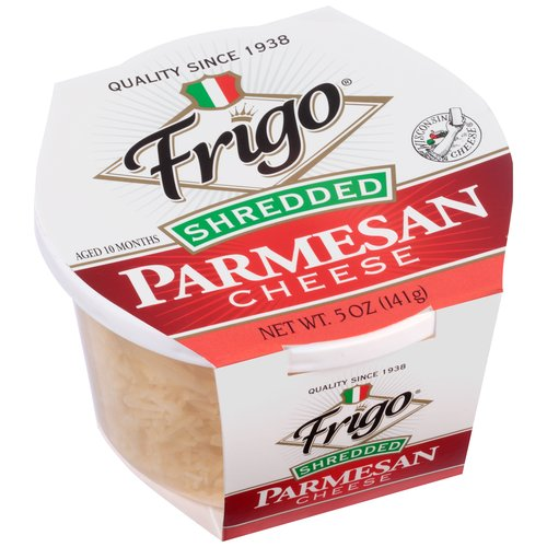 Frigo Shredded Parmesan Cheese, 5 oz