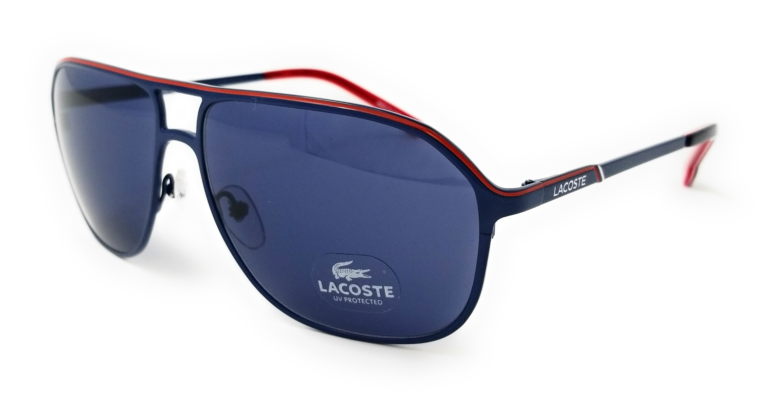 23756b85a743 Lacoste - LACOSTE Sunglasses L139SB 414 Satin Blue Aviator Mens 60x14x140 -  Walmart.com