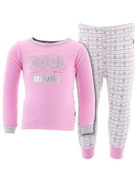 Duck Duck Goose Little Girls' Pink Cool Like Mom Cotton Pajamas