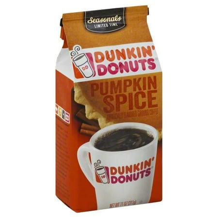 Dunkin' Donuts Pumpkin Spice Flavored Coffee, (Small Pumpkins)
