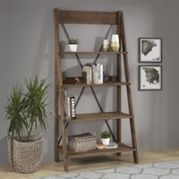 Manor Park Solid Wood 4-Shelf Ladder Bookshelf- Multiple Colors