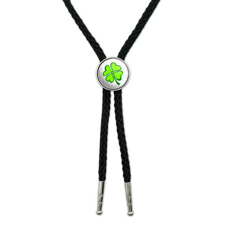 Lots of Luck - Lucky Irish Four Leaf Clover Southwestern Bolo -