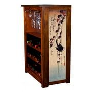 """Blackbird on Ivy"" by Hiroshige Wine Cabinet"
