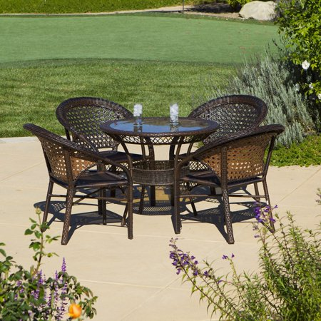 All-Weather Wicker Patio Dining Set - Set of 4