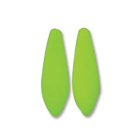 Neon Lime 25 Czech Glass Dagger Drop, Loose Beads, 5x16mm