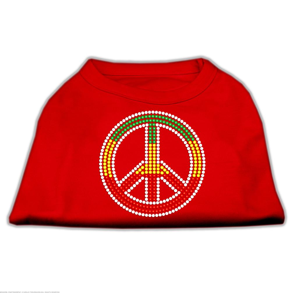Rasta Peace Sign Shirts Red S (10)