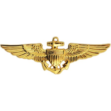 U.S. Navy/U.S.M.C. Aviator Wings Gold Plated 1 1/2