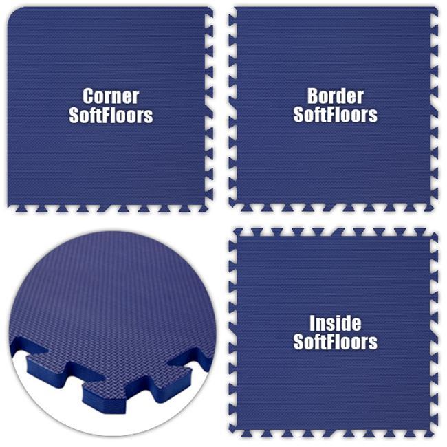Alessco SFRB1228 SoftFloors -Royal Blue -12  x 28  Set