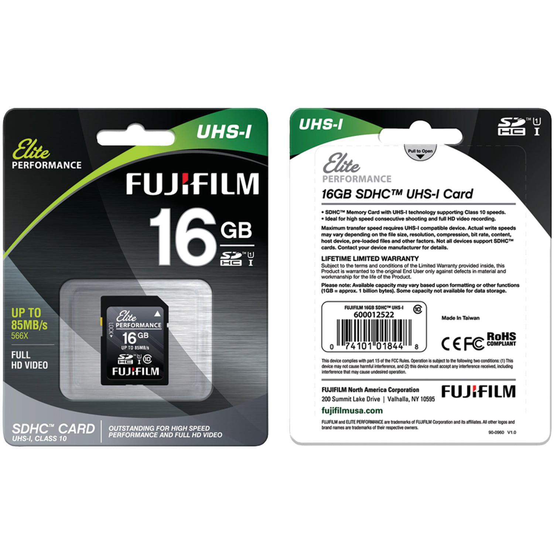 Fujifilm 600012522 Elite Sdhc Card (16gb)