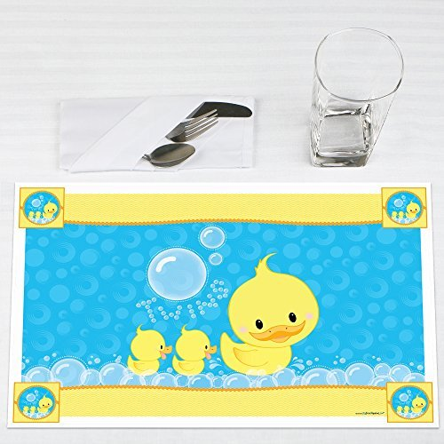 Twin Ducky Ducks Party Placemats Set of 12 by Big Dot of Happiness, LLC
