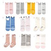 Newborn Infant Baby Cute Cartoon Non-slip Sock Winter Warm Cotton Long Stockings