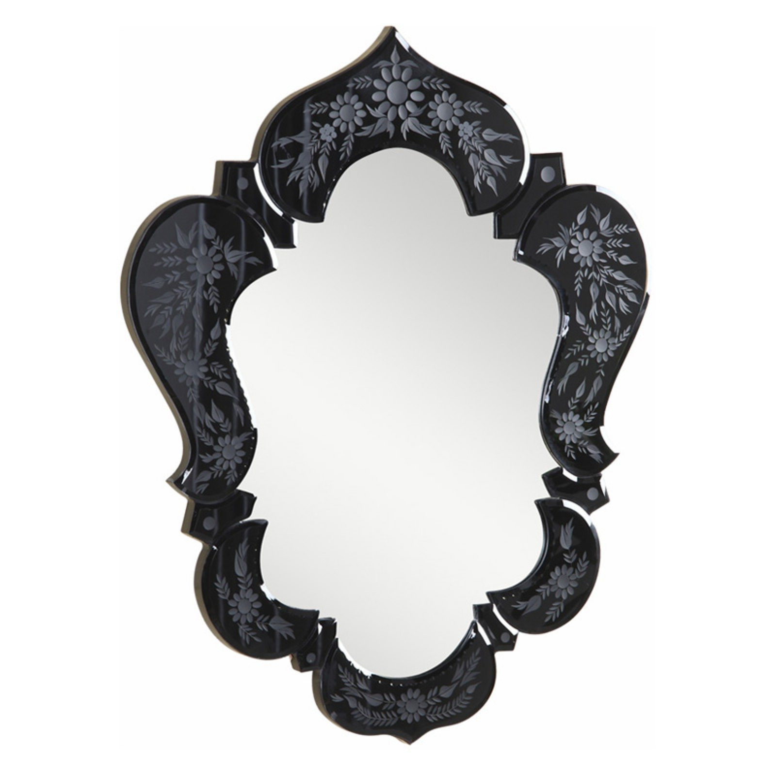 Elegant Furniture & Lighting Venetian Floor Wall Mirror - 20.7W x 25.6H in.
