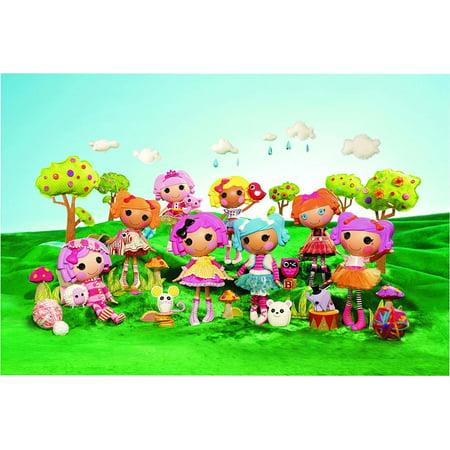 Lalaloopsy Bea Spells-a-Lot Mittens Fluff'N'Stuff Crumbs Sugar Cookie Pets Trees Edible Cake Topper Image - Sugar Crumbs Lalaloopsy