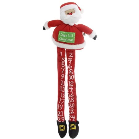 Santa Leg Plush Countdown Advent Calendar](Advent Colors)