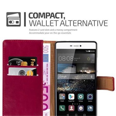 Cadorabo Case for Huawei P8 cover - with Magnetic Closure, Stand Function and Card Slot - image 4 de 5