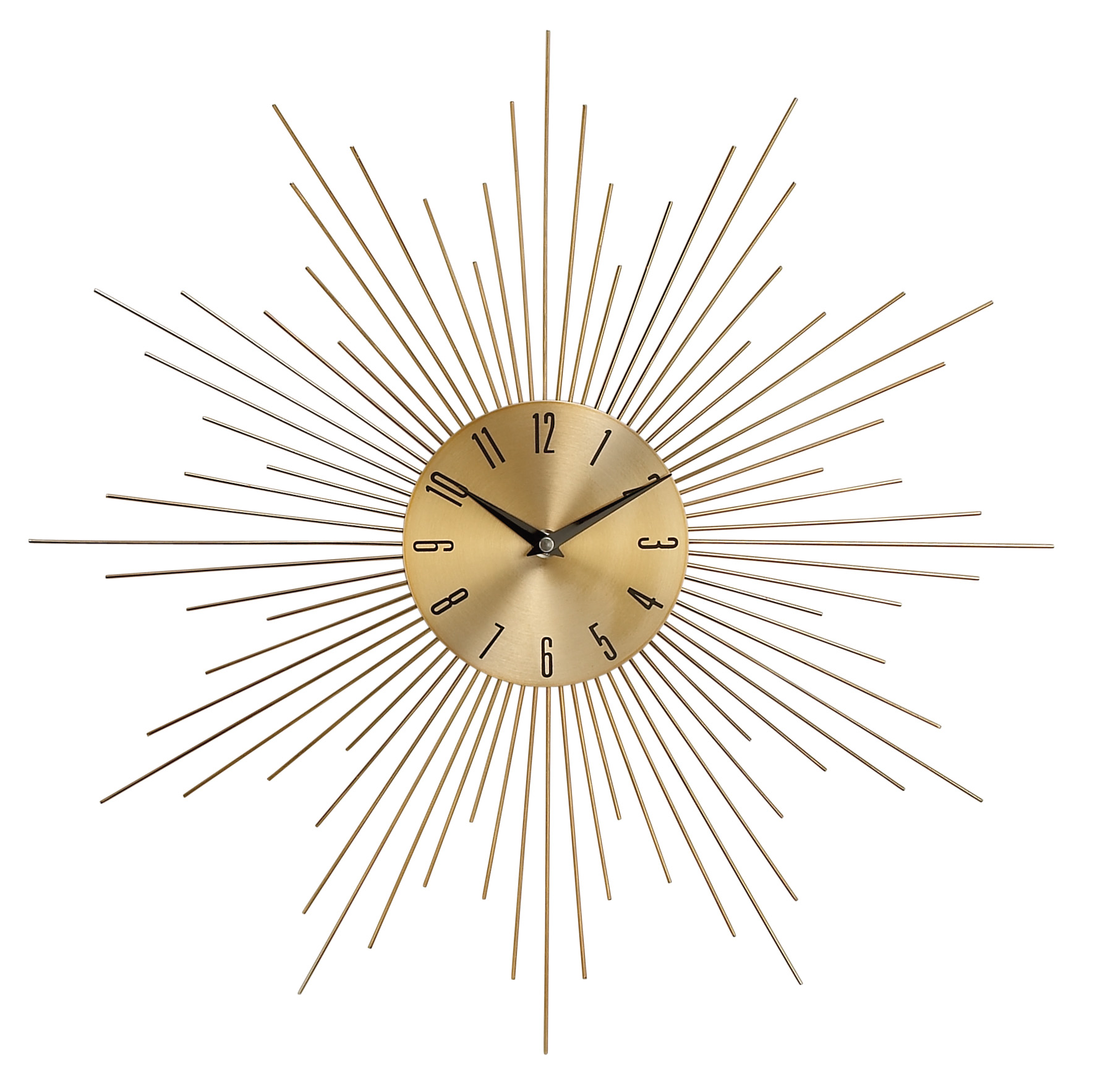"Metal Gold Wall Clock 20""D"
