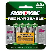 Rechargeable NiMH Batteries, AA, 1400 mA-h, 4/Pack (RAYNM7154OP)