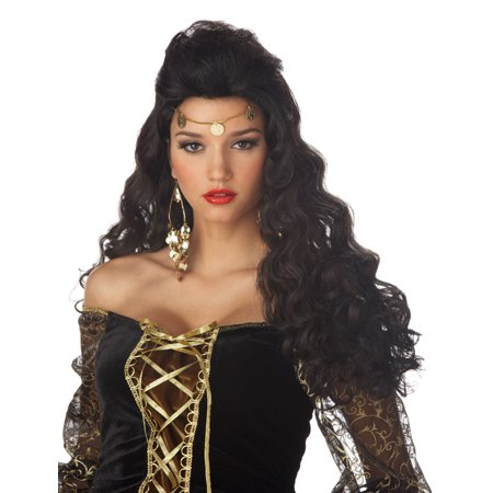 Madame Destiny Fortune Teller or Gypsy Black Wig