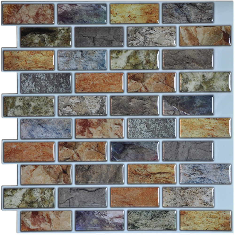 "Art3d 12"" x 12"" Peel and Stick Backsplash Tiles, 6 Pcs Smart Tile Backsplash for Kitchen"