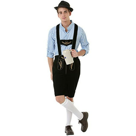 Boo! Inc. Boisterous Bavarian Men's Halloween Costume German Oktoberfest Beer Lederhosen - German Halloween Traditions