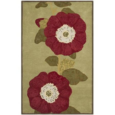Martha Stewart Red Rose Floral Area Rug