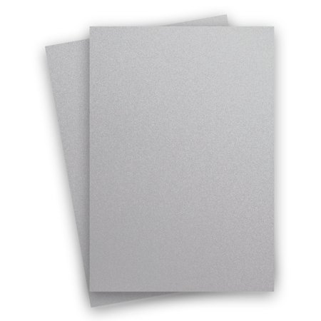 Metallic Silver Galvanised 8-1/2-x-14 Cardstock Paper 150-pk -- PaperPapers 249 GSM (92lb Cover) LEGAL size Card Stock Paper - Business, Card Making, Designers, Professional and DIY -