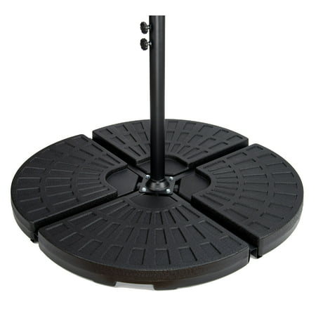 - 4-Piece Set Cantilever Umbrella Base Water Weights for Offset Umbrellas by Trademark Innovations