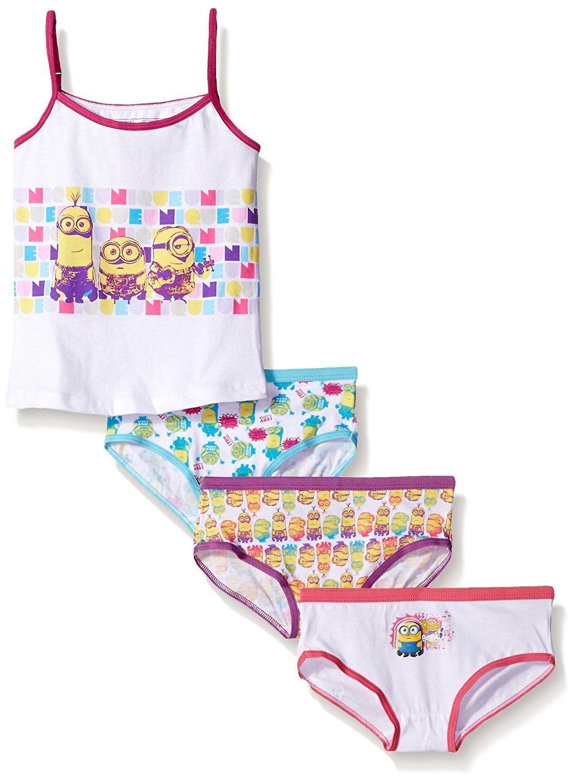 Universal Girls' Minions 3-Pack Underwear and Tank Set