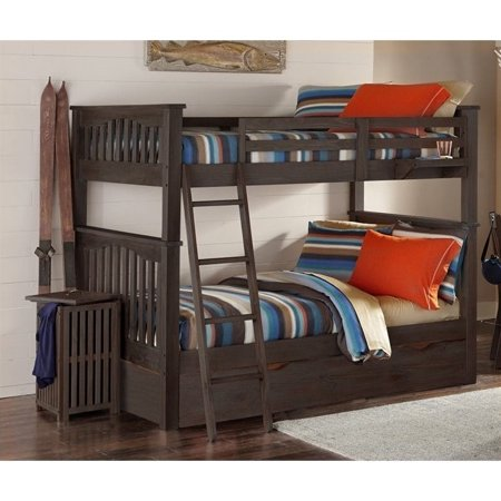 Ne Kids Twin Over Twin Bunk Trundle Espresso