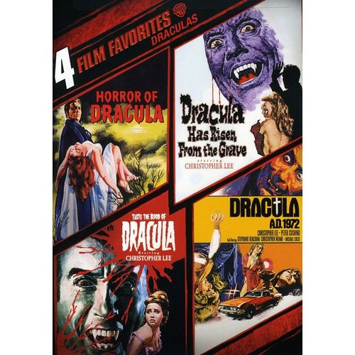 4 Film Favorites: Draculas: Horror Of Dracula / Dracula Has Risen / Taste The Blood Of Dracula / Dracula A.D. 1972 (Widescreen)