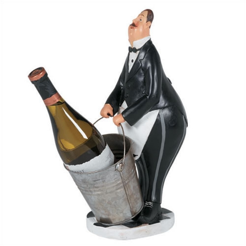 RAM Game Room Butler in Black Tuxedo 1 Bottle Tabletop Wine Rack
