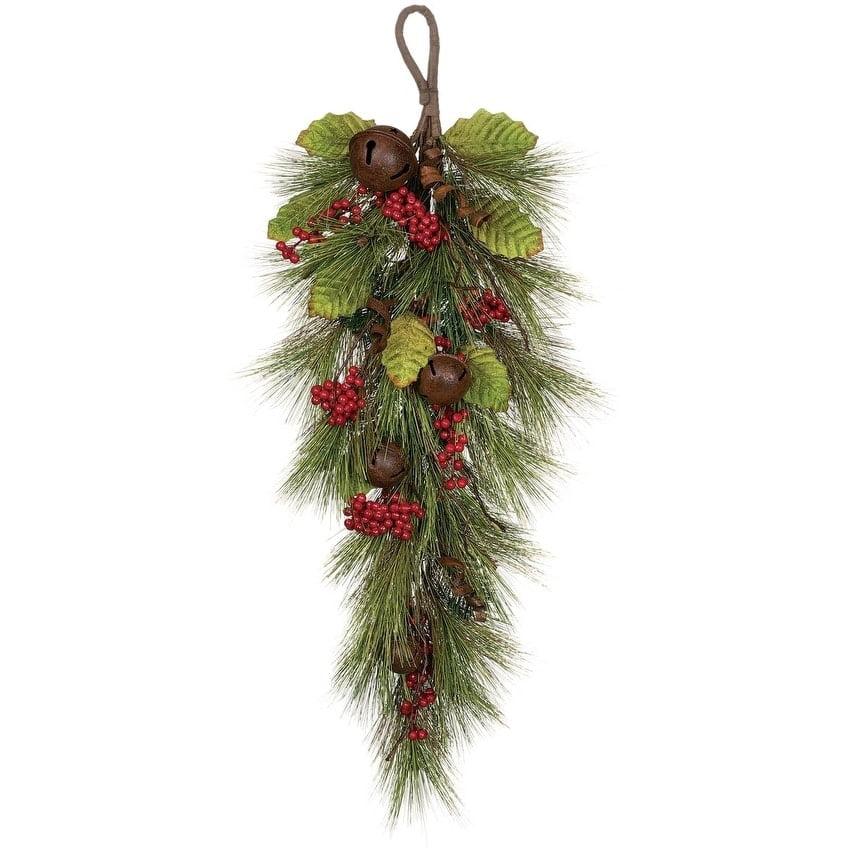 Sullivans Pine Swag with Berries & Bells