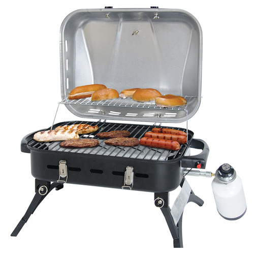 Uniflame 12,000 BTU Portable Gas Grill, Stainless Steel Lid