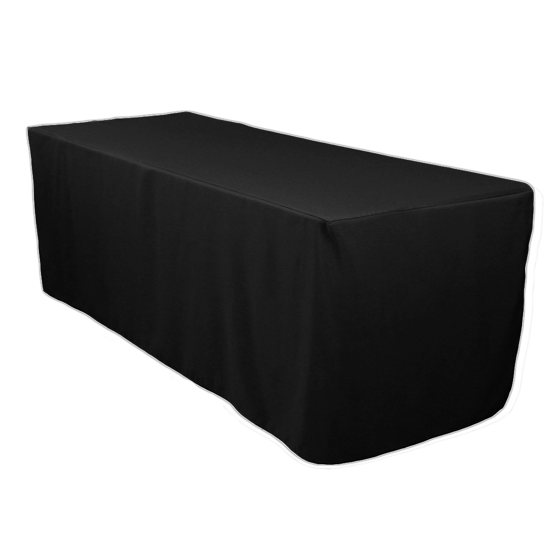 Lovely Fitted Polyester Tablecloth Black