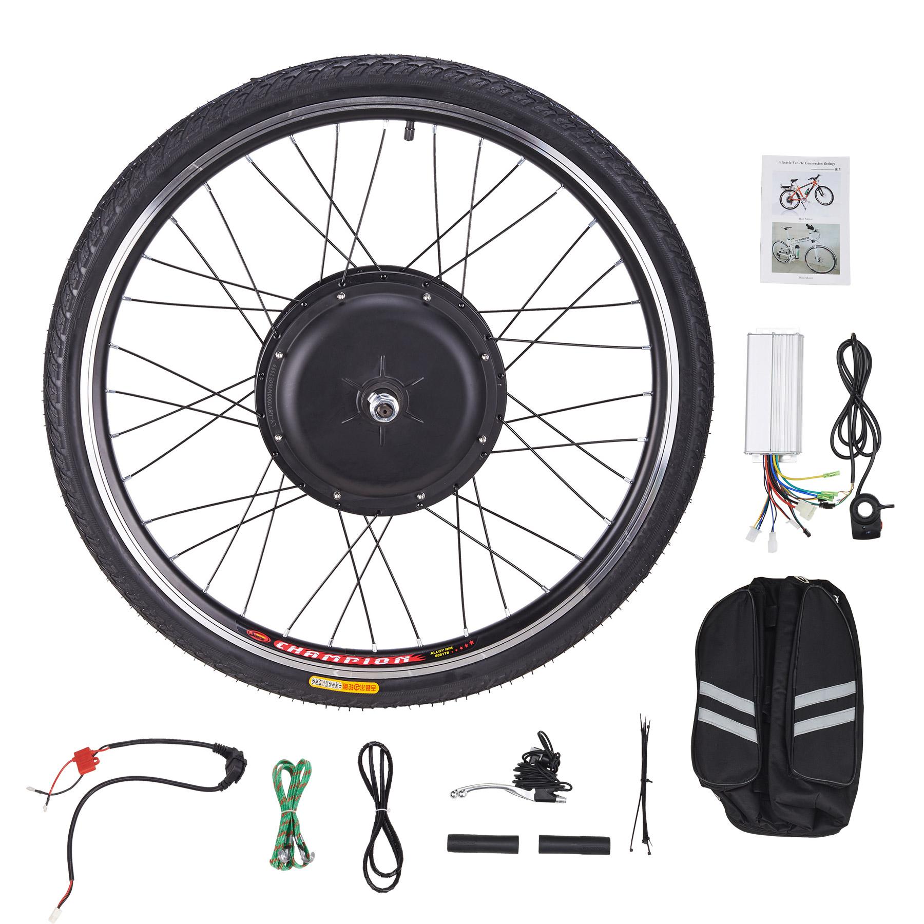 "48V 1000W 26"" Electronic Bike Conversion Kit for Front Wheel Motor Hub Control"