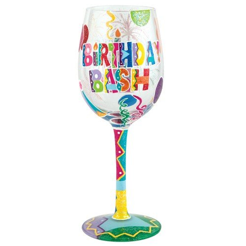 Lolita From Enesco Wine Glass Birthday Bash Walmart Com