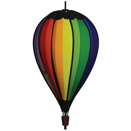 In the Breeze Rainbow Spectrum Hot Air 10-Panel Hanging, Spinning Balloon Decoration, 25-Inches - Toy Hot Air Balloon