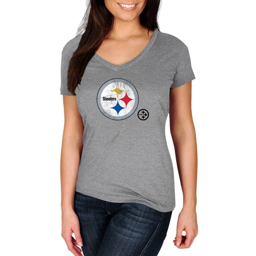 NFL Pittsburgh Steelers My Favorite Team Women's V-Neck Tee
