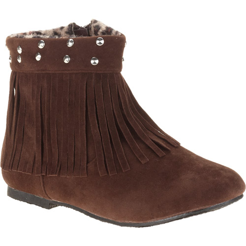 Josmo Girl's Faux Suede Fringe Bootie