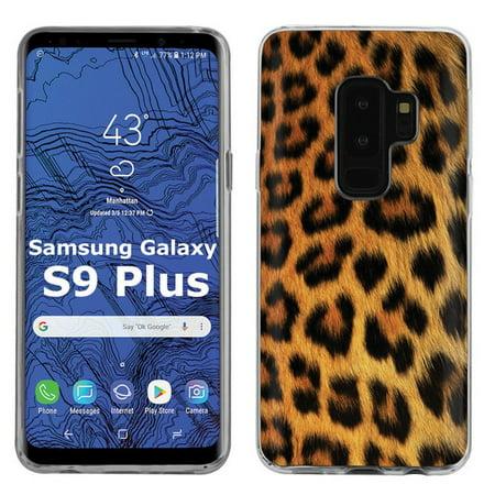 a00151b9a355 [SkinGuardz] Samsung Galaxy S9Plus / S9 PLUS [Clear] Slim Impact Resistant  Armor Cover Case [Yellow Cheetah Print]