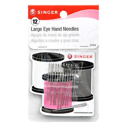 Singer 01824 Large Eye Hand Needles Wiht Magnetic Needle Holder12 Count