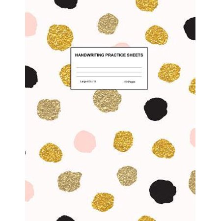 Handwriting Practice Sheets : Cute Blank Lined Paper Notebook for Writing Exercise and Cursive Worksheets - Perfect Workbook for Preschool, Kindergarten, 1st, 2nd, 3rd and 4th Grade Kids - Product Code A4