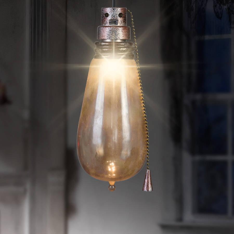 rusty short circuit attic light creepy flickering led bulb halloween
