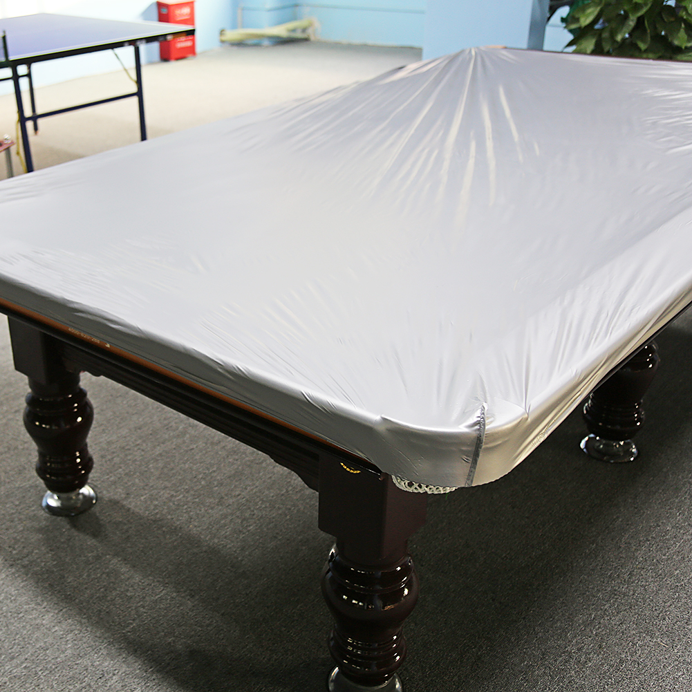 WALFRONT 8 Feet Dustproof Moistureproof PVC Cloth Billiard Table Protection  Cover Accessory, Pool Table Cover