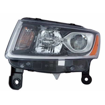 Go-Parts » 2014 - 2015 Jeep Grand Cherokee Front Headlight Headlamp Assembly Front Housing / Lens / Cover - Left (Driver) Side 68110997AF CH2502247 Replacement For Jeep Grand